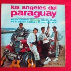 Discos de vinilo: LOS ANGELES DEL PARAGUAY - ALMA LLANERA // YO VI LLORAR A DIOS // CIELITO LINDO // ENDE QUE TE VI. Lote 46968546