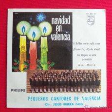 Discos de vinilo: PEQUEÑOS CANTORES DE VALENCIA - A BELÉM ME'N VULLC ANAR // ¿PASTORCITO, DÓNDE VIVES? // LA VIRGEN SE. Lote 46968819