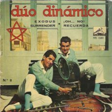 Discos de vinilo: DUO DINAMICO EP 1961 EXODUS/ SURRENDER/ OH NO/ RECUERDA. Lote 46969682