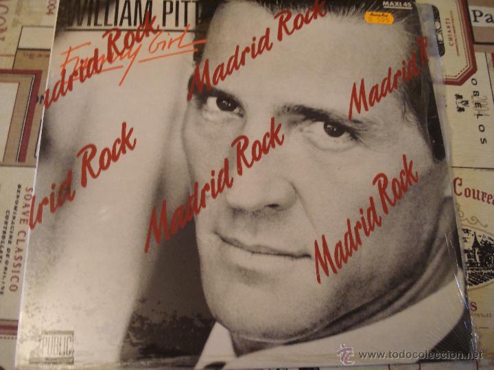 WILLIAM PITT - FUNNY GIRL (Música - Discos de Vinilo - Maxi Singles - Pop - Rock - New Wave Internacional de los 80)