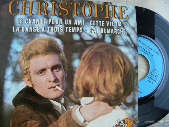 CHRISTOPHE -EP -EDIC. FRANCESA (Música - Discos de Vinilo - EPs - Canción Francesa e Italiana)