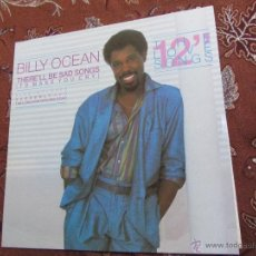 Discos de vinilo: MAXI-SINGLE DE VINILO DE BILLY OCEAN- TITULO THERE'LL BE SAD SONGS- ORIGINAL DEL 84- 4 TEMAS-NUEVO. Lote 46980933