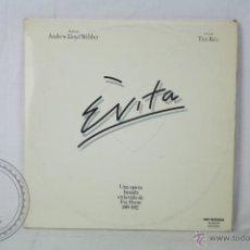 Discos de vinilo: DOBLE DISCO LP VINILO - EVITA. OPERA: LA VIDA DE EVA PERÓN - ANDREW LLOYD WEBBER - MCA RECORDS 1976. Lote 46984530
