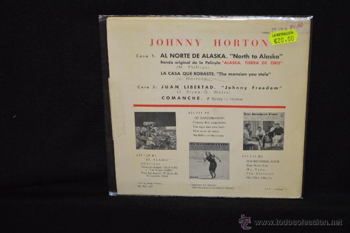 Discos de vinilo: JOHNNY HORTON - NORTH TO ALASKA +3 - EP - Foto 2 - 46988389