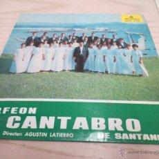 Discos de vinilo: ORFEON CANTABRO DE SANTANDER. AGUSTIN LATIERRO. ALHAMBRA.. Lote 47012187