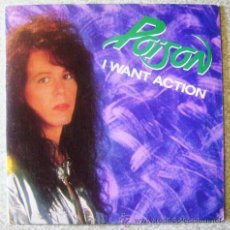 Disques de vinyle: POISON.I WANT ACTION/WANT SOME,NEED SOME....PROMO...NM. Lote 47012853