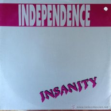 Discos de vinilo: INDEPENDENCE - INSANITY . MAXI SINGLE . 1993 MD RECORDS - MD - 0005 . Lote 47013077