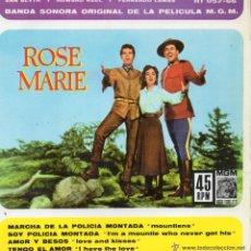 Discos de vinilo: B.S.O. - ROSE MARIE - EP 1962. Lote 47015827