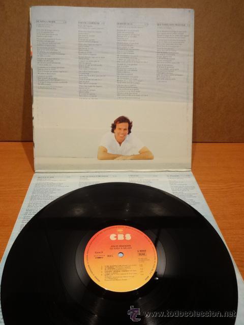 Discos de vinilo: JULIO IGLESIAS. DE NIÑA A MUJER. LP / CBS - 1981. DISCO DE LUJO.**/**** - Foto 2 - 47016111