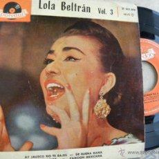 Discos de vinilo: LOLA BERTRAN VOL. 3 -EP 1960. Lote 47016292