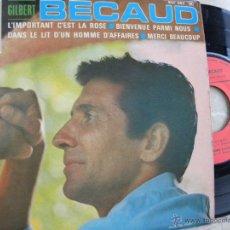 Discos de vinilo: GILBERT BECAUD -EP -EDIC. FRANCESA. Lote 47016329