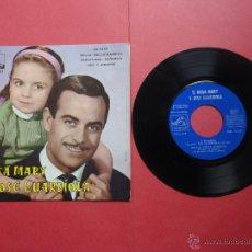 Discos de vinilo: ROSA MARY. JOSÉ GUARDIOLA. DI PAPÁ. Lote 47019639