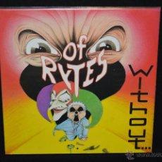 Discos de vinilo: OF RYTES - WITHOUT... - LP. Lote 47024534