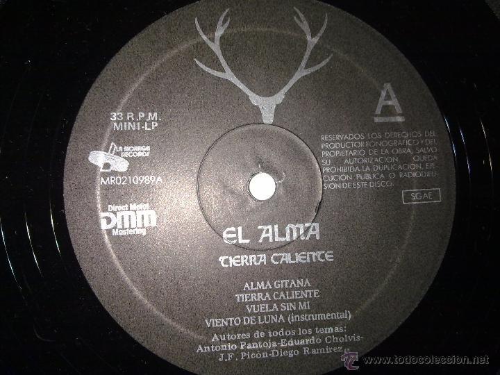 Discos de vinilo: El Alma - Tierra Caliente - Moraga Records - Primer LP - 1989 - VG+/VG+ - Foto 5 - 47026713