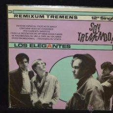 Discos de vinilo: LOS ELEGANTES - SOY TREMENDO - MAXISINGLE PROMOCIONAL. Lote 47035529