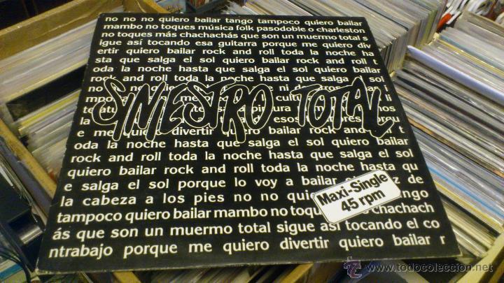 SINIESTRO TOTAL QUIERO BAILAR ROCK AND ROLL MAXI 12 PULGADAS DISCO DE VINILO (Música - Discos de Vinilo - Maxi Singles - Grupos Españoles de los 90 a la actualidad)