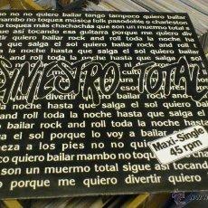 Discos de vinilo: SINIESTRO TOTAL QUIERO BAILAR ROCK AND ROLL MAXI 12 PULGADAS DISCO DE VINILO . Lote 47043856