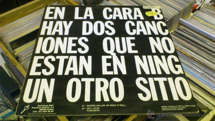 Discos de vinilo: Siniestro total quiero bailar rock and roll maxi 12 pulgadas disco de vinilo - Foto 2 - 47043856