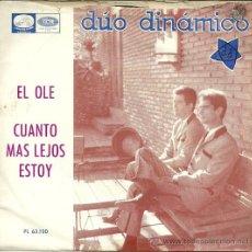 Discos de vinilo: DUO DINAMICO SINGLE SELLO LA VOZ DE SU AMO AÑO 1965. Lote 47049024