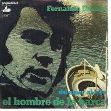 Discos de vinilo: FERNANDO UNSAIN SG DIM DIRESA 1974 PROMO EL HOMBRE DE LA BARCA/ DEL AMOR AL HIJO JORGE DONCOS FOLK. Lote 172872680