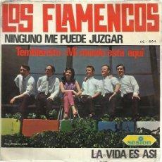 Discos de vinilo: LOS FLAMENCOS SESION EP 1966 NINGUNO ME PUEDE JUZGAR/ TEMBLORCITO +2 YE YE BEAT POP . Lote 47051828