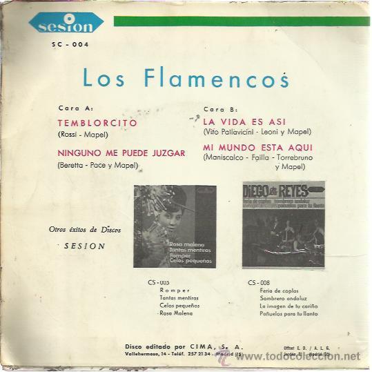 Discos de vinilo: LOS FLAMENCOS SESION EP 1966 ninguno me puede juzgar/ temblorcito +2 YE YE BEAT POP - Foto 2 - 47051828