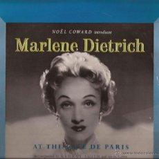 Discos de vinilo: LP-25 CTMS-MARLENE DIETRICH AT THE CAFE DE PARIS,LONDON-PHILIPS 8006-UK 195??. Lote 47065152