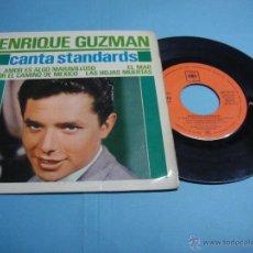 Discos de vinilo: ENRIQUE GUZMAN CANTA STANDARDS. VINILO. LAS HOJAS MUERTAS - POR EL CAMINO DE MEXICO 1963. Lote 47068372