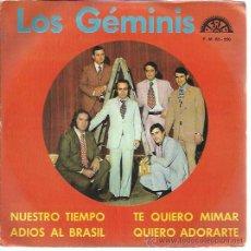 Discos de vinilo: ORQUESTA LOS GEMINIS EP BERTA 1973 TE QUIERO MIMAR/ QUIERO ADORARTE/ NUESTRO TIEMPO/ ADIOS AL BRASIL. Lote 47069649