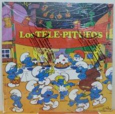 Discos de vinilo: LOS TELE-PITUFOS (LP VICTORIA 1987 SPAIN) PRECINTADO NUEVO SIN USAR. Lote 47070143