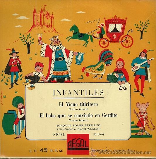 EL LOBO TITIRITERO Y EL LOBO QUE SE CONVIRTIO EN CERDITO, CUENTO EP SELLO REGAL AÑO 1958 (Música - Discos de Vinilo - EPs - Música Infantil)