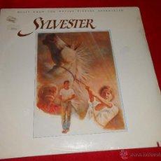 Discos de vinilo: SYLVESTER OST BSO THE TEXTONES+GAIL DAVIES+RANK AND FILE+CRUZADOS+LOS LOBOS LP 1985 ED AMERICANA USA. Lote 191466556