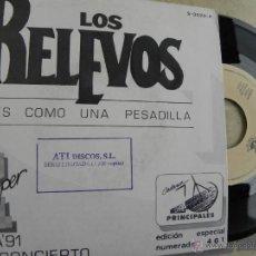 Discos de vinilo: LOS RELEVOS Y DRAMA -SINGLE PROMO 1991 -EDICION LIMITADA 1200 COPIAS -BUEN ESTADO. Lote 47075189