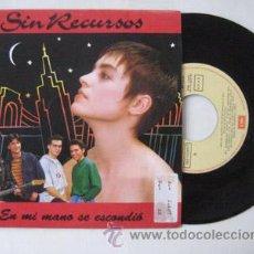 Discos de vinilo: ANTIGUO VINILO : SIN RECURSOS : EN MI MANO SE ESCONDIÓ; EN MI MANO SE ESCONDIÓ. EMI ODEÓN 006 122441. Lote 47076012
