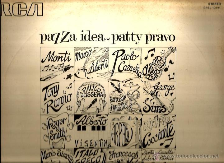 Discos de vinilo: LP PATTY PRAVO : PAZZA IDEA ( EDICION ORIGINAL ITALIANA DE 1973, CONTENIENDO ALBUM DE DIBUJOS - Foto 2 - 47082282