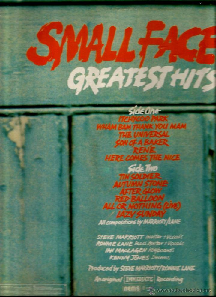 Discos de vinilo: LP SMALL FACES : GREATEST HITS ( EDITADO POR EL SELLO IMMEDIATE EN 1977 ) - Foto 2 - 47082825
