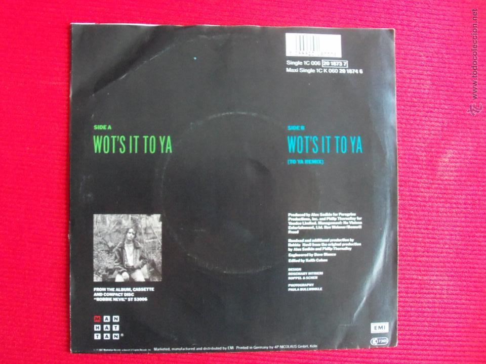 Discos de vinilo: ROBBIE NEVIL - WOTS IT TO YA - Foto 2 - 47087546