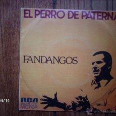 Discos de vinilo: EL PERRO DE PATERNA - FANDANGOS - EN LA PLAZA DEL ORGULLO + AIRE DE MAR Y DE TIERRA . Lote 47091572
