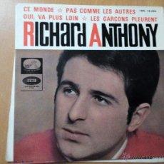 Discos de vinilo: RICHARD ANTHONY CE MONDE + 3 EP SPAIN 1964. Lote 47099832