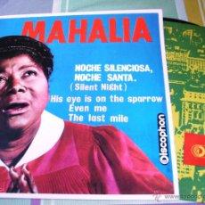 Discos de vinilo: MAHALIA JACKSON / NOCHE SILENCIOSA, NOCHE SANTA (SILENT NIGHT) + 3 - DISCOPHON 27.190. Lote 47105279