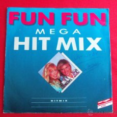 Dischi in vinile: FUN FUN (MEGA HIT MIX ) - HAPPY STATION / COLOUR MY LOVE / BAILA BOLERO / GIVE ME YOUR LOVE / GIMME. Lote 47106700
