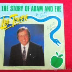 Discos de vinilo: LEE TOWERS - THE STORY OF ADAM AND EVE // GAMES PEOPLE PLAY. Lote 47107204