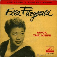 Discos de vinilo: ELLA FITZGERALD - MACK THE KNIFE LA VOZ DE SU AMO - 1960. Lote 47119091