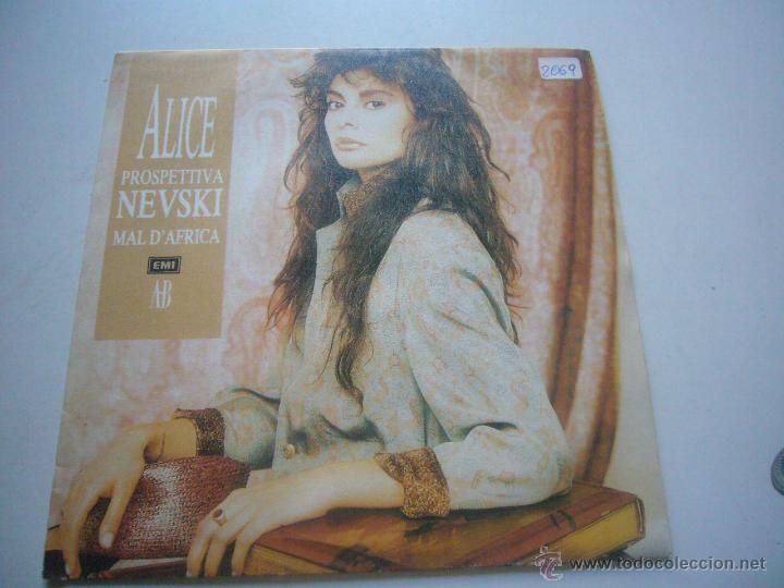 ALICE - PROSPETTIVA NEVSKI / MAL D'AFRICA - SINGLE ESPAÑOL C37 (Música - Discos de Vinilo - Singles - Pop - Rock Extranjero de los 80)