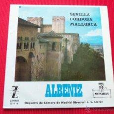 Discos de vinilo: ALBENIZ ( ORQUESTA DE CÁMARA DE MADRID ) - SEVILLA / CORDOBA / MALLORCA. Lote 47138363