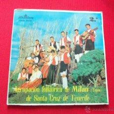 Discos de vinilo: AGRUPACIÓN FOLKLÓRICA DE MILAN DE SANTA CRUZ DE TENERIFE Nº 2. Lote 94618846