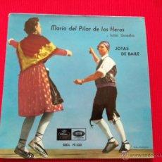 Discos de vinilo: MARIA DEL PILAR DE LAS HERAS Y JULIÁN GONZÁLEZ - JOTAS DE BAILE. Lote 47138910