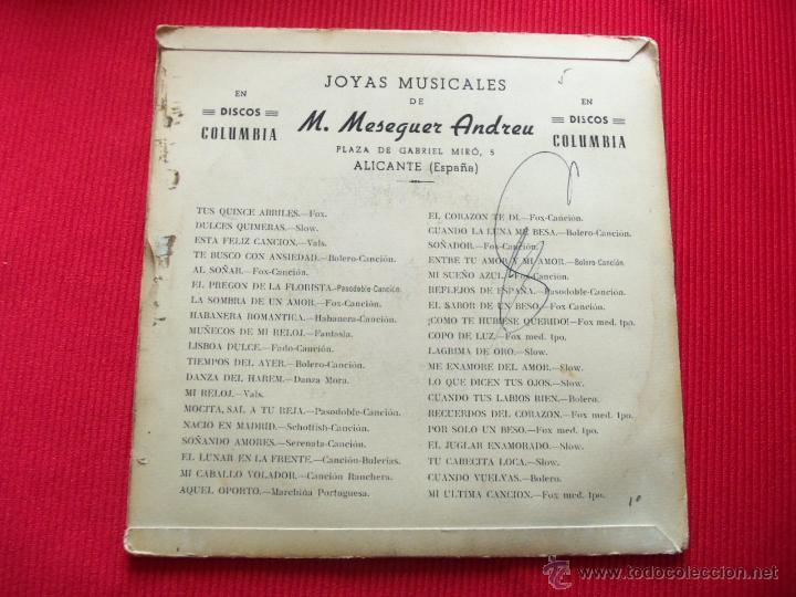 Discos de vinilo: JOYAS MUSICALES DE MANUEL MESEGUER ANDREU - LO QUE DICEN TUS OJOS // RECUERDOS DEL CORAZÓN // CUANDO - Foto 2 - 47139110