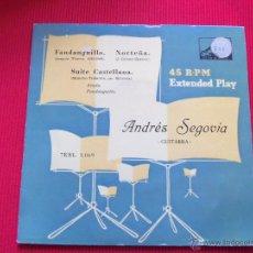Discos de vinilo: ANDRÉS SEGOVIA - NORTEÑA // FANDANGUILLO // SUITE CASTELLANA . Lote 47139280