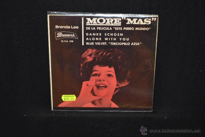 BRENDA LEE - MORE +3 - DE LA PELICULA ESTE PERRO MUNDO - EP (Música - Discos de Vinilo - EPs - Pop - Rock Internacional de los 50 y 60)